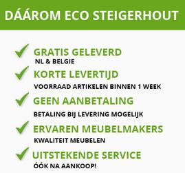 Ecosteigerhout - loungebank steigerhout